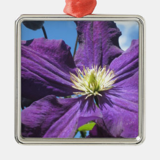 Purple Clematis Flower Christmas Ornament