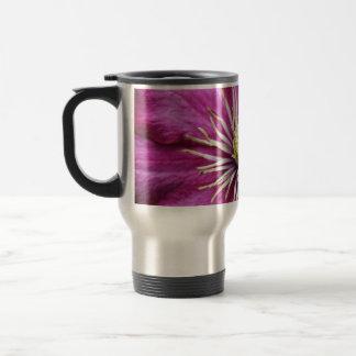 Purple Clematis flower in bloom during Spring Stainless Steel Travel Mug