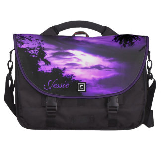 Purple Clouded Sunrise Laptop Bag *personalize*