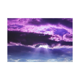 Purple Clouds Wrapped Canvas