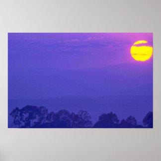 Purple Cloudy Sky Print