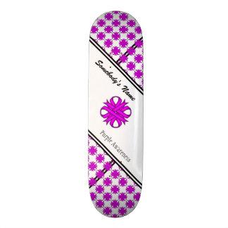 Purple Clover Ribbon 19.7 Cm Skateboard Deck