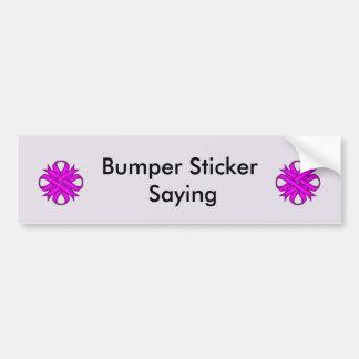 Purple Clover Ribbon Bumper Sticker