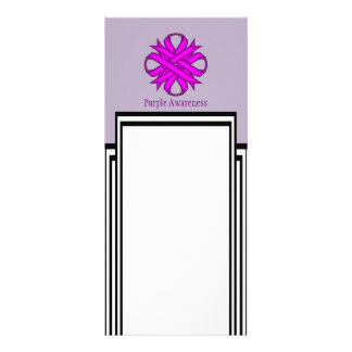 Purple Clover Ribbon Personalized Rack Card