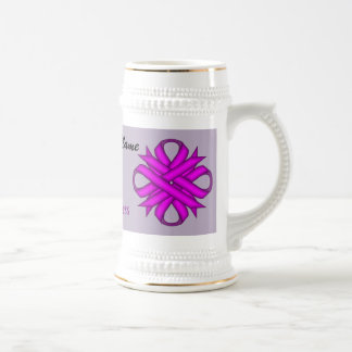 Purple Clover Ribbon Template by Kenneth Yoncich Beer Steins