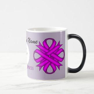 Purple Clover Ribbon Template Morphing Mug