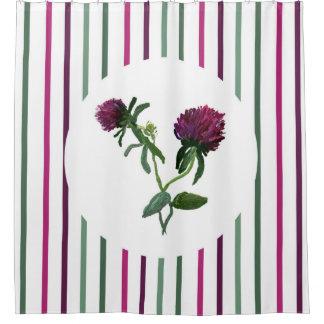 Purple Clover Shower Curtain