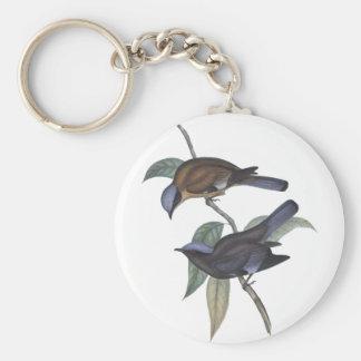 Purple Cochoa Basic Round Button Key Ring
