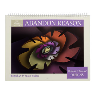 Purple Collection Abstract Fractals 2018 Wall Calendars