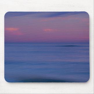 Purple-colored sunrise on ocean shore 2 mouse pad