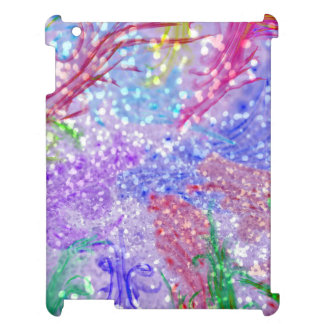Purple Colorful Watercolor Abstract Glitter Photo iPad Cover
