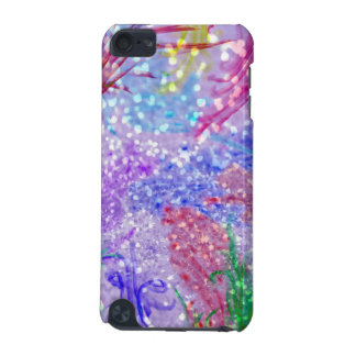 Purple Colorful Watercolor Abstract Glitter Photo iPod Touch (5th Generation) Cases
