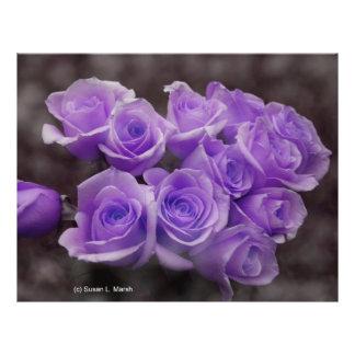 Purple colourized rose bunch custom flyer