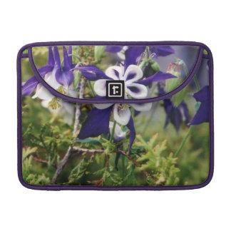 Purple Columbines Macbook Pro Sleeve