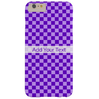 Purple Combination Checkerboard by Shirley Taylor Barely There iPhone 6 Plus Case