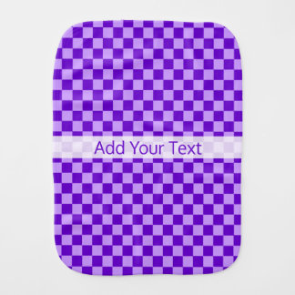 Purple Combination Checkerboard by Shirley Taylor Burp Cloth