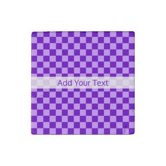 Purple Combination Checkerboard by Shirley Taylor Stone Magnet