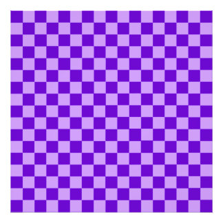 Purple Combination Classic Checkerboard Photo Art