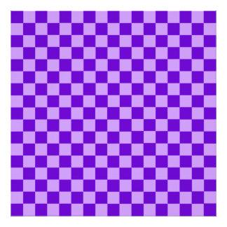 Purple Combination Classic Checkerboard Photo Art
