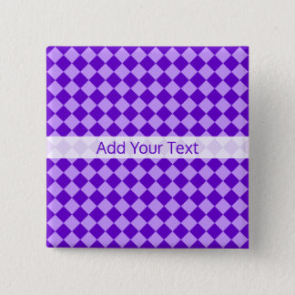 Purple Combination Diamond Pattern by STaylor 15 Cm Square Badge