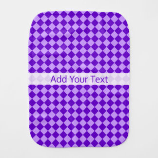 Purple Combination Diamond Pattern by STaylor Burp Cloth