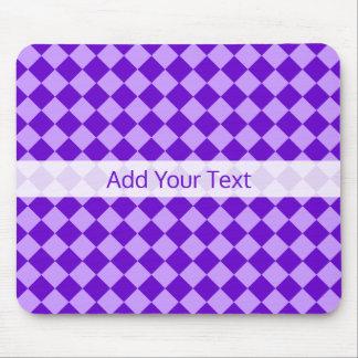 Purple Combination Diamond Pattern by STaylor Mouse Mat