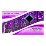 Purple Computer Repair Business Card