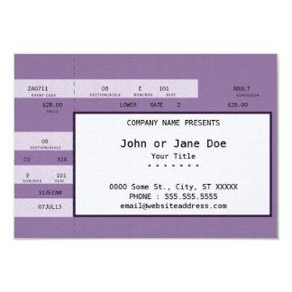 purple concert ticket 9 cm x 13 cm invitation card
