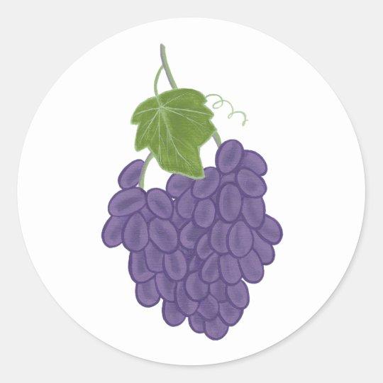 Purple Concord Grape Painting Stickers