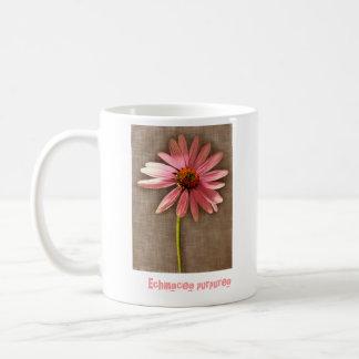 Purple Cone Flower Echinacea purpurea Classic White Coffee Mug