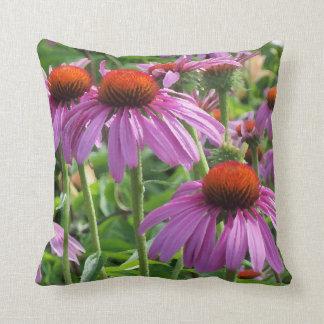 Purple cone flowers throw pillow