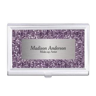 Purple Confetti Glitter Print | DIY Name Business Card Holder