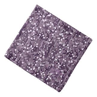 Purple Confetti Glitter Style Print Bandanna