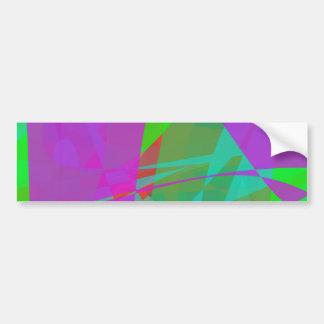 Purple Continent Bumper Stickers