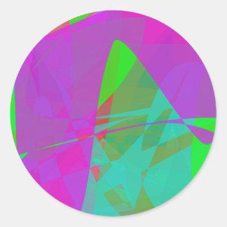 Purple Continent Sticker