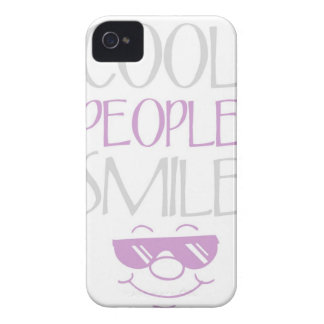 Purple Cool People Smile Statement iPhone 4s Case iPhone 4 Case-Mate Case