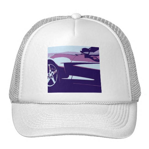 Purple Corvette Mesh Hat