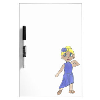 Purple Costume Modern Lyrical Dance Teacher Gift Dry Erase Board