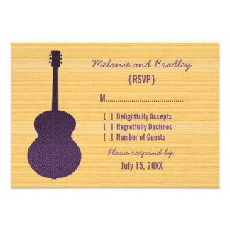 Purple Country Guitar Response Card