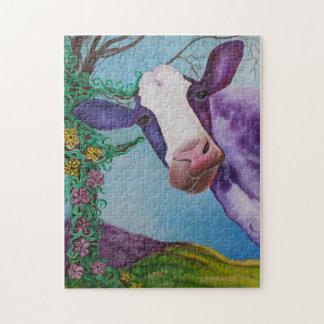 Purple Cow Jigsaw Puzzle