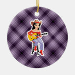 Purple Cowgirl with Guitar