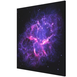 Purple Crab Nebula SpaceHD Gallery Wrapped Canvas