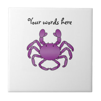 Purple crab tile