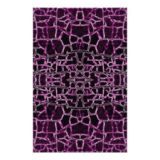 Purple Cracked Pattern Personalised Stationery