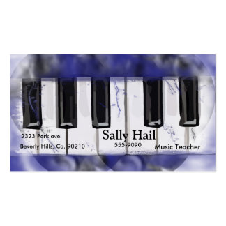 Purple Crackle Tickle The Ivory Piano Business Card