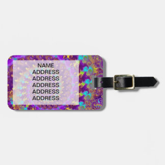 Purple Crazy Fractal Luggage Tag
