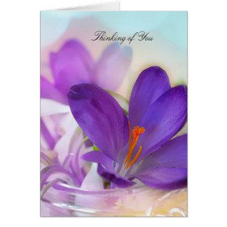 Purple Crocus Blank Note Card