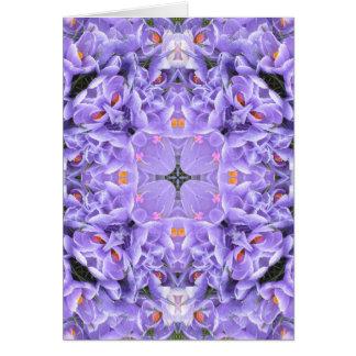 Purple Crocus Card