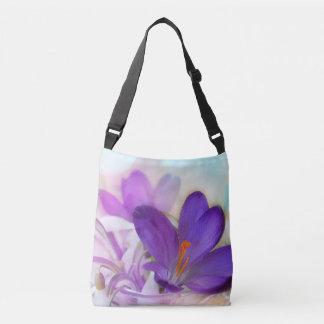 Purple Crocus Cross-Body Crossbody Bag
