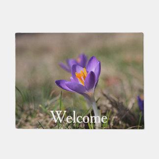 Purple crocus doormat